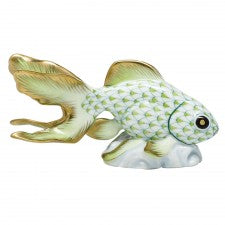 Herend fantail goldfish key lime