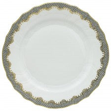 Herend Fish Scale Gray Dinner Plate