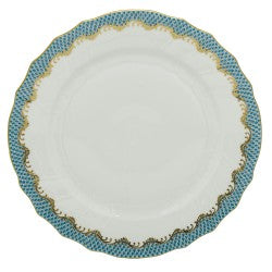 Herend Fish Scale Turquoise Dinner Plate