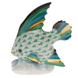 Herend fish table green ornament