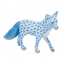 Herend fox blue