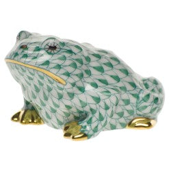 Herend frog green