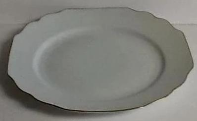 Pickard Georgian Ultra White And Gold Salad Plate
