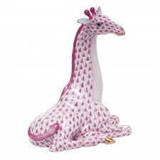 Herend giraffe raspberry