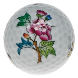 Herend golf ball with flower paperweight