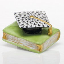 Herend graduation cap lime green