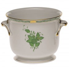 Herend chinese bouquet green small  cachepot