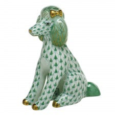 Herend figurine poodle green