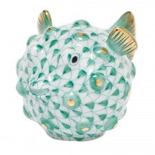 Herend Puffer Fish Green