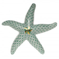 Herend green starfish