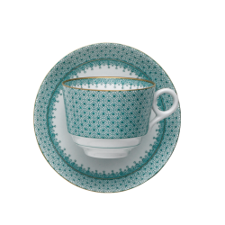 Mottahedeh Green Lace Tea Cup & Saucer