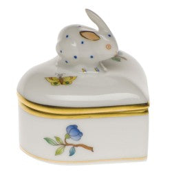 Herend heart box with bunny