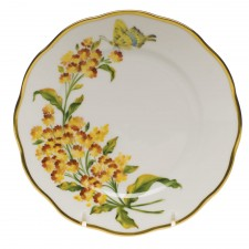 Herend China American Wildflowers Butterfly Weed Bread & Butter Plate