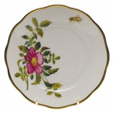 Herend American Wildflowers Prairie Rose Bread & Butter Plate