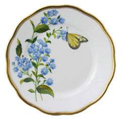 Herend China    American Wild Flowers Blue Wood Aster Bread Butter Plate