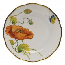 Herend American Wildflowers California Poppy Bread & Butter Plate