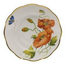 Herend American Wildflowers California Poppy Salad Plate