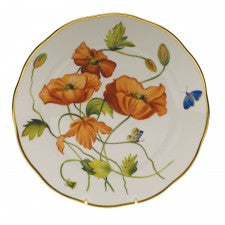 Herend American Wildflowers California Poppy Dinner Plate