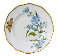 Herend China  American Wildflowers Blue Wood Aster Salad Plate