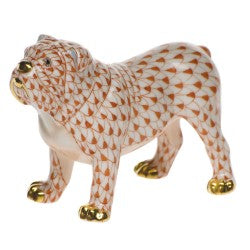 Herend Figurines Bulldog Rust