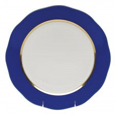 Herend China Silk Ribbon Cobalt Blue Charger