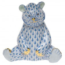 Herend Figurines Sitting Bear Blue