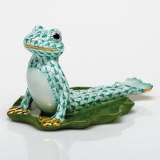 Herend  Figurines Yoga Frog In Cobra Pose