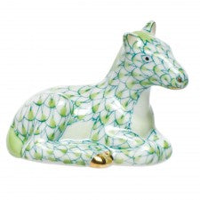 Herend miniature horse key lime