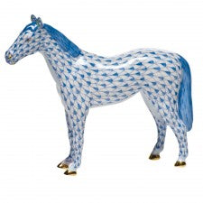 Herend Small Horse Blue