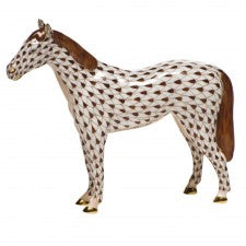 Herend Small Horse Brown