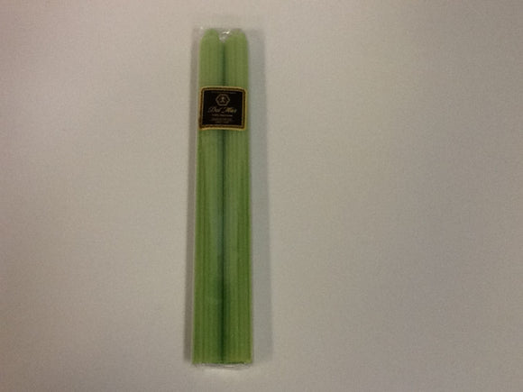 Knorr beeswax candle straight taper chartreuse pair 12