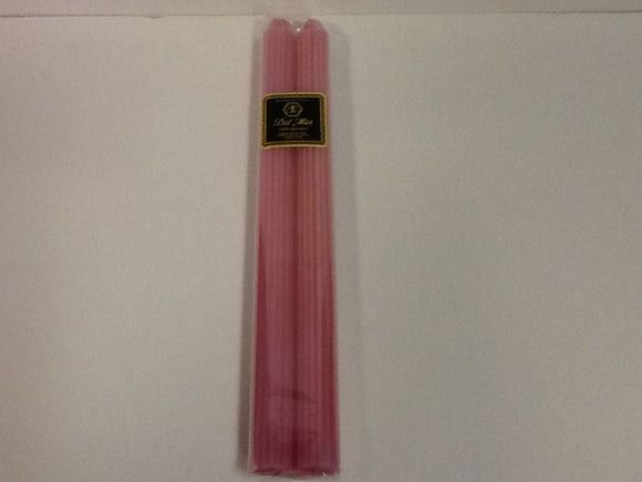 Knorr beeswax candle straight taper pink pair 12