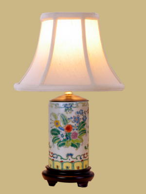 Oriental Mini Pencil Holder Lamp