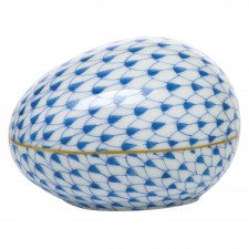 Herend Large Egg Blue