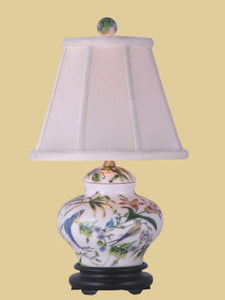 "Porcelain ""Lily Cover Jar"" Lamp"