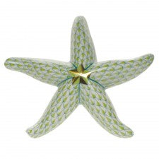 Herend starfish lime green