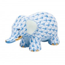 Herend little elephant blue
