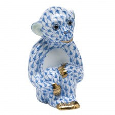 Herend little monkey blue
