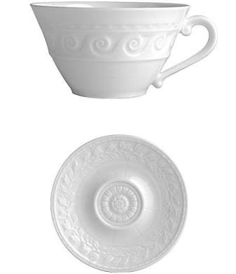 Bernardaud Louvre Tea Cup And Saucer