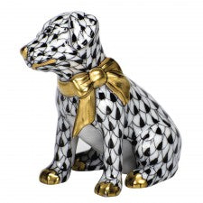 Herend figurine doggie dazzle black
