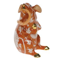 Herend Figurine Chinese Zodiac Mouse Eating Tail