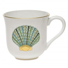 Herend mug scallop shell