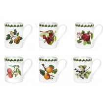 Portmeirion pomona set of 6 tangard/coffee mugs