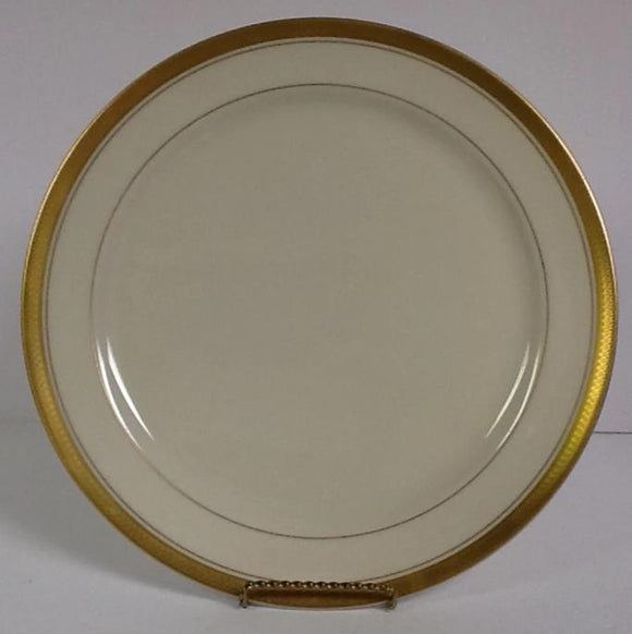 Pickard China Palace Ivory & Gold Oversize Dinner Plate