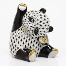 Herend Figurines Playful Panda