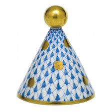 Herend Party Hat Blue