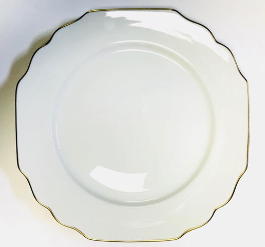 Pickard Georgian gold and ultra white dinner plate