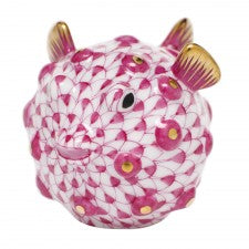 Herend Puffer Fish Pink