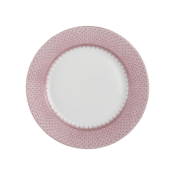 Mottahedeh Pink Lace Dessert Plate