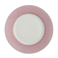 Mottahedeh Pink Lace Dinner Plate